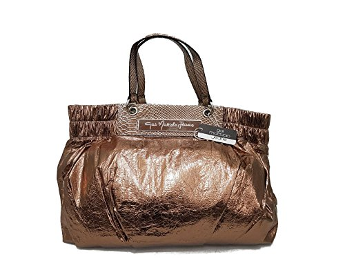 SHOPPING BAG GRANDE BY GAI MATTIOLO JEANS COLOR BRONZO LINEA MORBIDA
