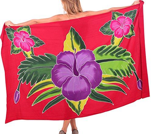 Bademode Pareo Badeanzug Wickelrock Badebekleidung Frauen Sarong Pool tragen Badeanzug Zeitkleidung verschleiern Karibik Rot