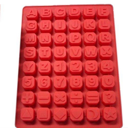 BestOfferBuy Englisch Alphabet Buchstaben Nummern Silikon Eis Form
