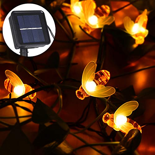 r Biene Garten Lichterkette LED Outdoor Lichterkette Weihnachtsbeleuchtung Warmweiß---[Energieklasse A+] ()
