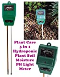 Gadget Hero'S Plant Care New 3 In 1 Hydroponic Plants Soil Moisture Ph Light Meter, Tester...