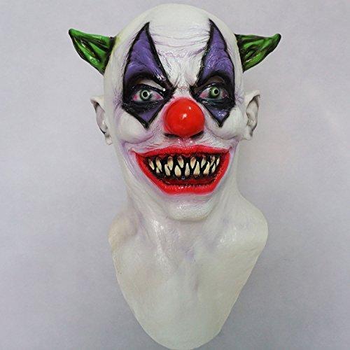 Giggles Scary Clown Maske Latex Scary Halloween Erwachsene Kostüm Latex Cosplay Fancy Kleid Party