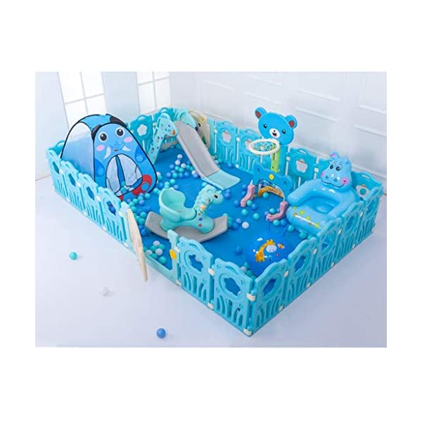 LIUFS-Playpens Children's Fence Game Safety Entertainment Center Indoor And Outdoor (Size : Package D) LIUFS-Playpens - The fence is specially designed with a rubber base underneath, which can be firmly fixed to the floor and will not be pushed or towed by children. - Non-toxic, non-circulating high density polyethylene material without any odor. Over the years, molding technology has made the structure more durable and durable. Any form of manual deburring can prevent your baby from getting hurt. - The height of the fence is long enough to stand and walk, and each set has different game toys for children to play. 2
