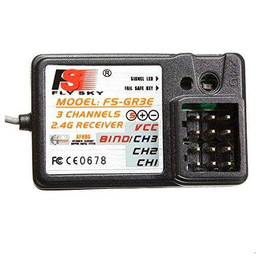 Modell Empfaenger - FlySky FS-GR3E 3CH 2.4 GHz Empfaenger GT2 GT3 GT3B GT3C GR3C RC Auto Boot - Fs-boot