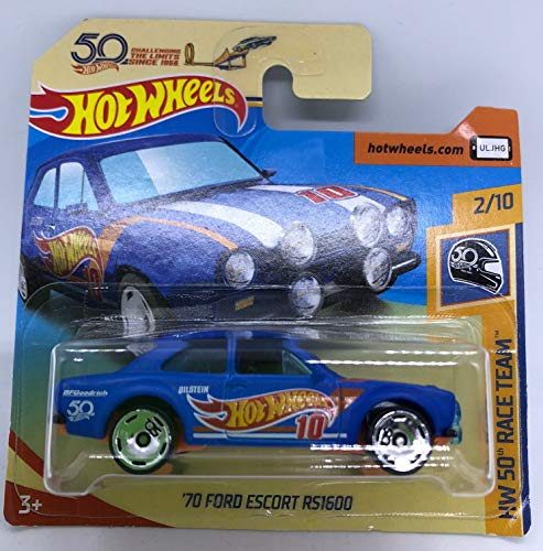 Hot Wheels 2018 '70 Ford Escort RS1600 2/10 HW 50th Race Team 335/365 (Short Card)