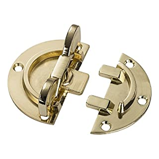 4 pieces x Turning Locks Ø 61 mm, Brass-plated Steel, Twist-Lock, Table Fitting Furniture Lock to Screw-on Table Connector from SO-TECH®