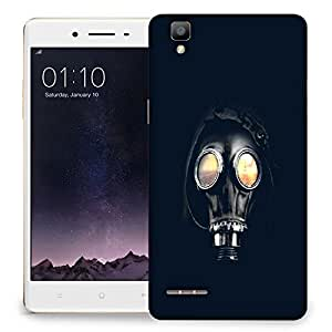 Snoogg Astro Mask Designer Protective Back Case Cover For OPPO F1