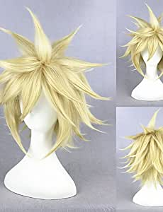 Mode Wigstyle courte Final Fantasy 7 Perruque Perruque de cheveux Cloud Strife Perruque Cosplay Anime Cs-233 a