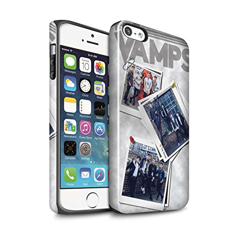 Offiziell The Vamps Hülle / Glanz Harten Stoßfest Case für Apple iPhone SE / Pack 5Pcs Muster / The Vamps Doodle Buch Kollektion Collage