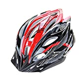 Ultra Light Weight -Eco-Friendly Super Light Integrally Bike Helm, verstellbare leichte Mountain Road Bike Helme für Männer und Frauen ( Color : Red and black )