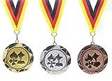 JoGo-Pok Medaille D=70mm, Skat, Poker, Karten inkl. 22mm Band, 3er Serie