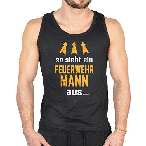 Feuerwehr-erwachsenen T-shirt (witziges T-shirt - so sieht ein Feuerwehr Mann aus ! - Tshirt just for Fire)