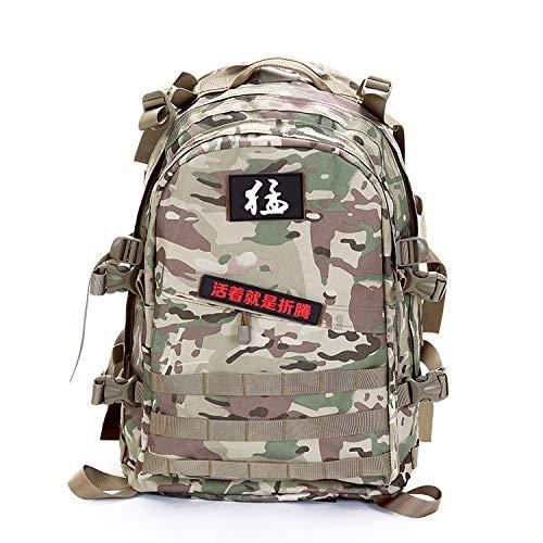 Zsbb zaino da viaggio borse, zaino mimetico, borsa a tracolla di grande capienza, equipaggiamento militare per le forze speciali dell'esercito maschile e femminile pacchetto tattico a tre livelli, camuffamento cp