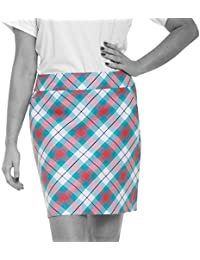 Royal & Awesome Well Plaid - Falda-pantalón de golf para mujer, multicolor