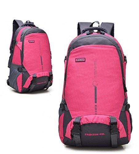 Maker 45L Wander rucksack Sport im Freien Radfahren Rucksack Tasche Campingplatz Rucksack Wasserdicht Leichte Rucksack (schwarz) rosa