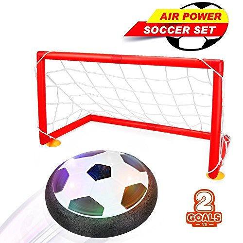 Air Football, Betheaces Air Power Soccer Fußball mit Fußballtor LED Beleuchtung kinder Air Fussball spielzeug für drinnen und draußen