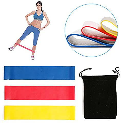 Resistance Loop Bands - 10''×2''Set of 3 Premium Exercise Bands - Great for Improving Mobility and Strength, Yoga, Pilates or for Injury Rehabilitation - Suitable for Women and Men - Made From Natural Latex Material - Lifetime Guarantee (red, one