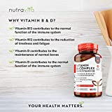 Vitamin B Complex High Strength 365 Days Supply Tablets | 8 Bio-Available Forms of Vitamin B (Including Biotin, Folic Acid, Vitamin B12) and Enriched with Vitamin D3| Made in The UK by Nutravita