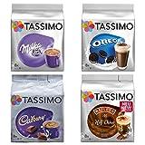 Tassimo Winter-Set Schokotraum, Kakao Kapseln, Oreo, Milka, Cadburry, Baileys Choco (Ohne Alkohol), T-Discs