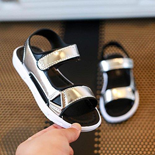 Prata Sandálias Longra Meninos Filles 7jahre 4 Meninas Da Sapatos Casuais Praia Verão Crianças Babyschuhe fOw45qw
