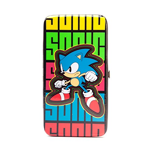 SONIC - Multi Colored Hinge Wallet With Sonic