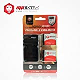 MP Extra DMW-BLH7 Pack 2 batteries + chargeur Europe/US + adaptateur allume-cigare pour Panasonic Lumix Noir