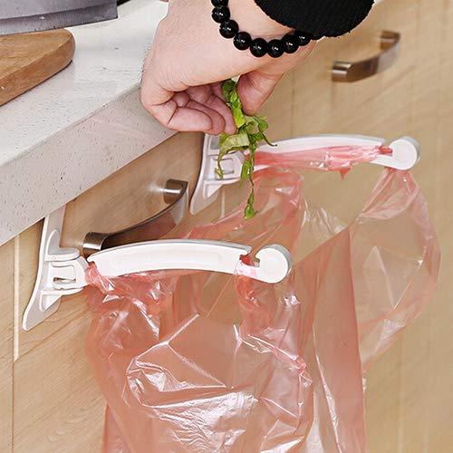 DKEyinx Küche Müllsackständer, Lagerung Müll Taschen HängendHaken, 16,5 cm x 3 cm x 8,5 cm, Kunststoff