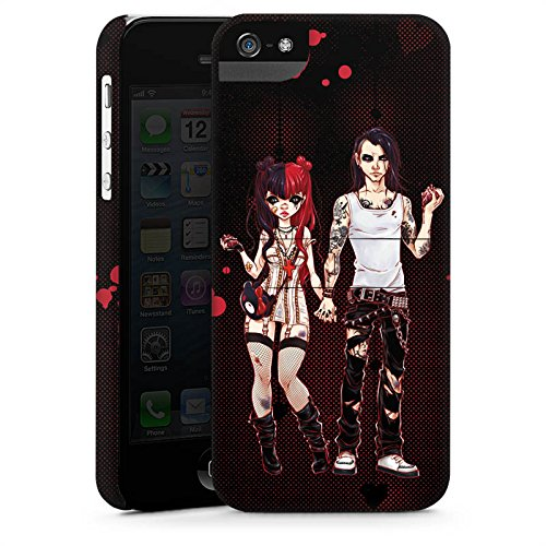Apple iPhone X Silikon Hülle Case Schutzhülle Valentine Dark Comic Boy and Girl Premium Case StandUp