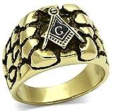 Aienid Männer Ring Vergoldet G Gold Glitzernden Graviert Stil Größe 67 (21.3)