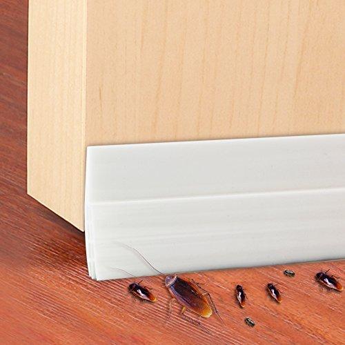 Türdichtung, htianc Tür Sweep Wetter Abisolieren Tür Boden Dichtung Strip Tür Draft Stopper–Weiß