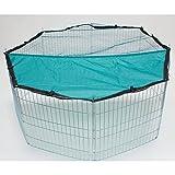 Rinderohr Auslauf mit Netz 8-eckig 145 cm - Freilaufgehege