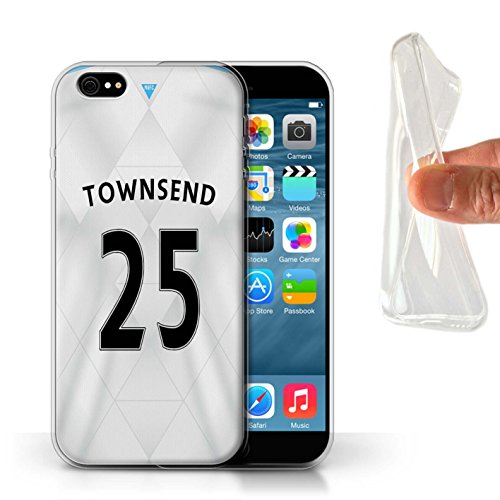 Offiziell Newcastle United FC Hülle / Gel TPU Case für Apple iPhone 6S / Pack 29pcs Muster / NUFC Trikot Away 15/16 Kollektion Townsend