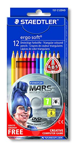 Staedtler ergosoft 157 c12dvd - pastelli assortiti, confezione da 12 pezzi + dvd gioco di avventura