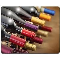Mousepad bottiglie di vino impilati in un