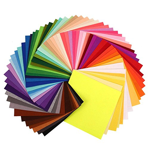 filz 2mm,Worsendy Filz Stoff,Multicolore Filz Stoff DIY, Filzplatten dekorativer Filzstoff Handgefertigt Polyester Bastelfilz 42 Farben (20 x 30 cm)