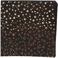 Neviti 773468 Glitz and Glamour Paper Napkins, Black/Gold