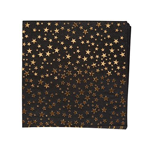 Neviti- Glitz and Glamour Servilletas de papel, Color black/gold (773468)