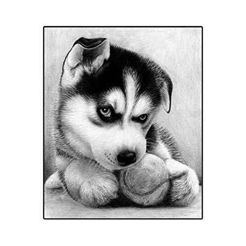 DMMASH Hund, DIY Diamant Malerei Kreuzstich, Diamant-Stickerei,25 * 30