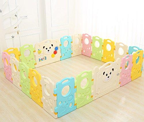 Baby Laufgitter Kinder Aktivität Center Sicherheit Spiel Yard Home Indoor Outdoor Neuen Stift Multicolor Baby Cage, Baby Gefängnis, 20 Kunststoffplatten, 226 * 190 Cm (18 Panel + 2 Tür)