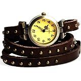 Yesurprise 041543-Reloj de pulsera para mujer color marrón