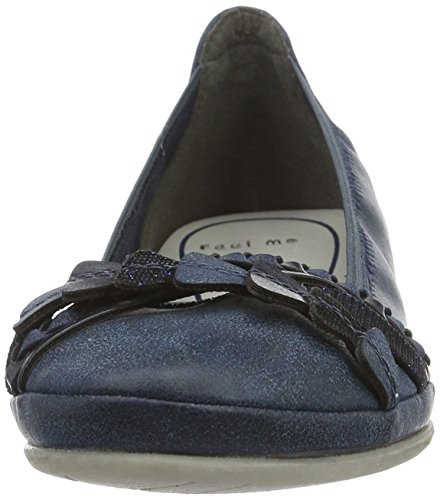 Marco Tozzi 22126, Ballerine Donna Blu (Navy Ant.comb 820)