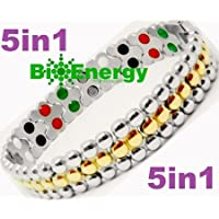 Titanium Magnetic Energy Germanium Armband Power Bracelet Health Bio 5in1 Bio 258