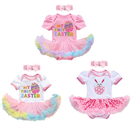 60b5447448111 FYMNSI Newborn Baby Girl Easter Outfit Infant My First 1st Easter Costume  Princess Tutu Romper Dress