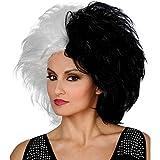 MyPartyShirt Cruella De Vil peluca 101 dálmatas Negro para mujer blanca adulta de la película de Disney