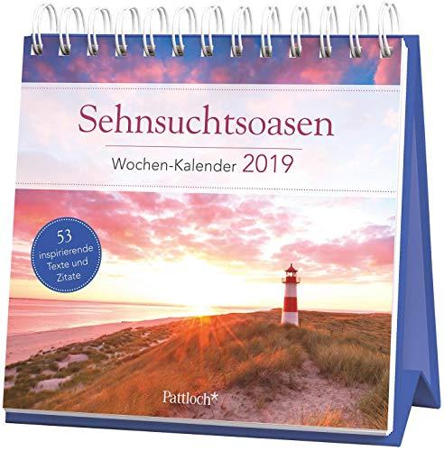 Sehnsuchtsoasen - Wochen-Kalender 2019: zum Aufstellen m. Fotos u. Zitaten, inspirierende Texte auf d. Rückseiten, 16,6 x 15,8 cm
