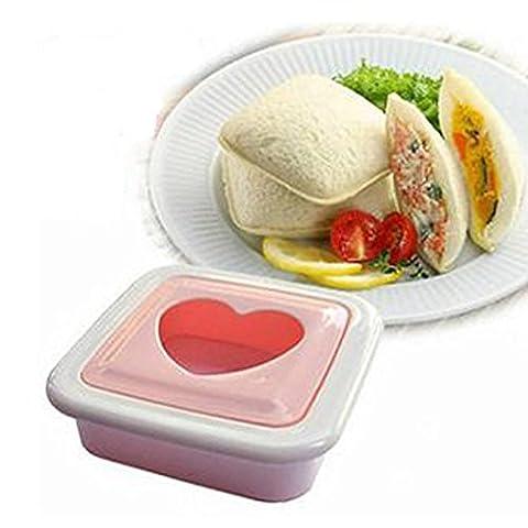 fuibo DIY Outil chaude Cœur Hear Ted forme Sandwich Pain Toast Maker moisissures Mold Cutter