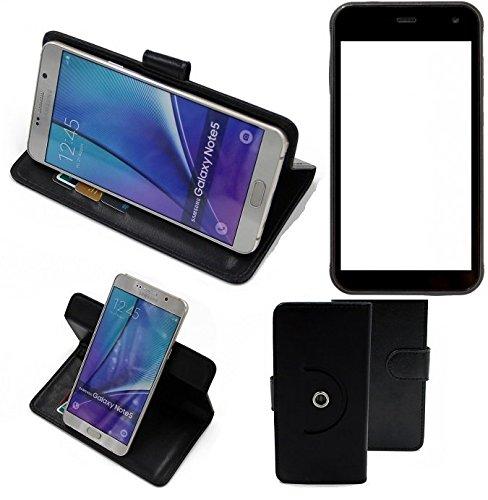 K-S-Trade® Case Schutz Hülle für Cyrus CS 22 Handyhülle Flipcase Smartphone Cover Handy Schutz Tasche Bookstyle Walletcase schwarz (1x)