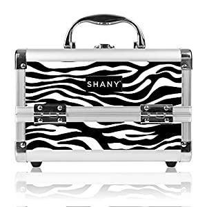 Shany Cosmetics Zebra Makeup Train Case with Mirror 48 Ounce