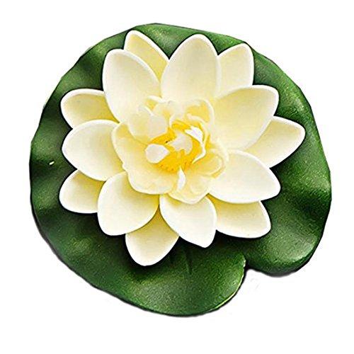 Westeng Künstliche Blumen Schwimmend Lotusblüte Wasserpflanzen Seerose Deko Hohe Simulation Nymphaea fisch tank aquarium simulation Seerose (Fische, Seerosen)