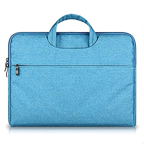 G7Explorer Water-resistant Laptop Sleeve Case Bag Portable Computer handbag For Macbook Pro Air and other Notebooks 11.6 inches Blue